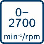 Volnoběžné otáčky 0–2700ot/min