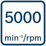 Volnoběžné otáčky 5000ot/min