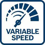 Snadná apřesná kontrola otáček; díky variabilní r