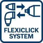 Plně flexibilní; Bosch FlexiClick systém 5v1: Zv