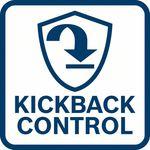Snižuje riziko náhlé reakce nářadí; při zablokován