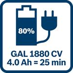 4,0Ah akumulátor nabitý na 80_% za 25_minut sGAL