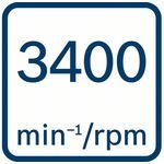 Volnoběžné otáčky 3400ot/min