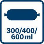 Kapacita sáčku; 300/400/600 ml