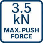 Maximální tlačná síla; 3,5 kN