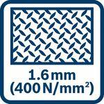 Plieno pjovimas (400 N/mm²) iki 1,6 mm