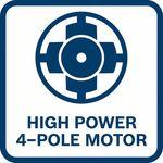 Výkonné; Vyšší výkon než dvoupólový motor ostejné