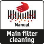 Manuální čištění filtru