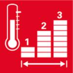 Tři topné stupně<br/> Teplota je nastavitelná ve třech stupních pro malé, střední a silné teplo