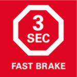 Brzda motoru<br/> Pro rychlé zastavení pilového listu do 3vteřin