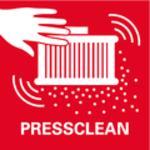 PressClean<br/> Ruční čištění filtru silným proudem vzduchu stisknutím spínače na odsávání