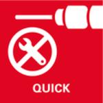 Rychlá výměna nástrojů Metabo Quick<br/> Proupínání nástrojů a používaný nástroj kdosažení vyšší flexibility práce
