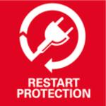 Ochrana proti opětovnému spuštění<br/> Brání nechtěnému rozběhu po přerušení elektrického napájení