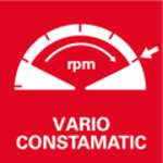 Celovlnná elektronika Vario-Constamatic (VC)<br/> Práce sotáčkami, které odpovídají materiálu a zůstávají pod zatížením téměř konstantní