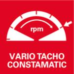 Celovlnná elektronika Vario-Tacho-Constamatic (VTC) se seřizovacím kolečkem<br/> Práce sotáčkami, které odpovídají materiálu a zůstávají pod zatížením konstantní